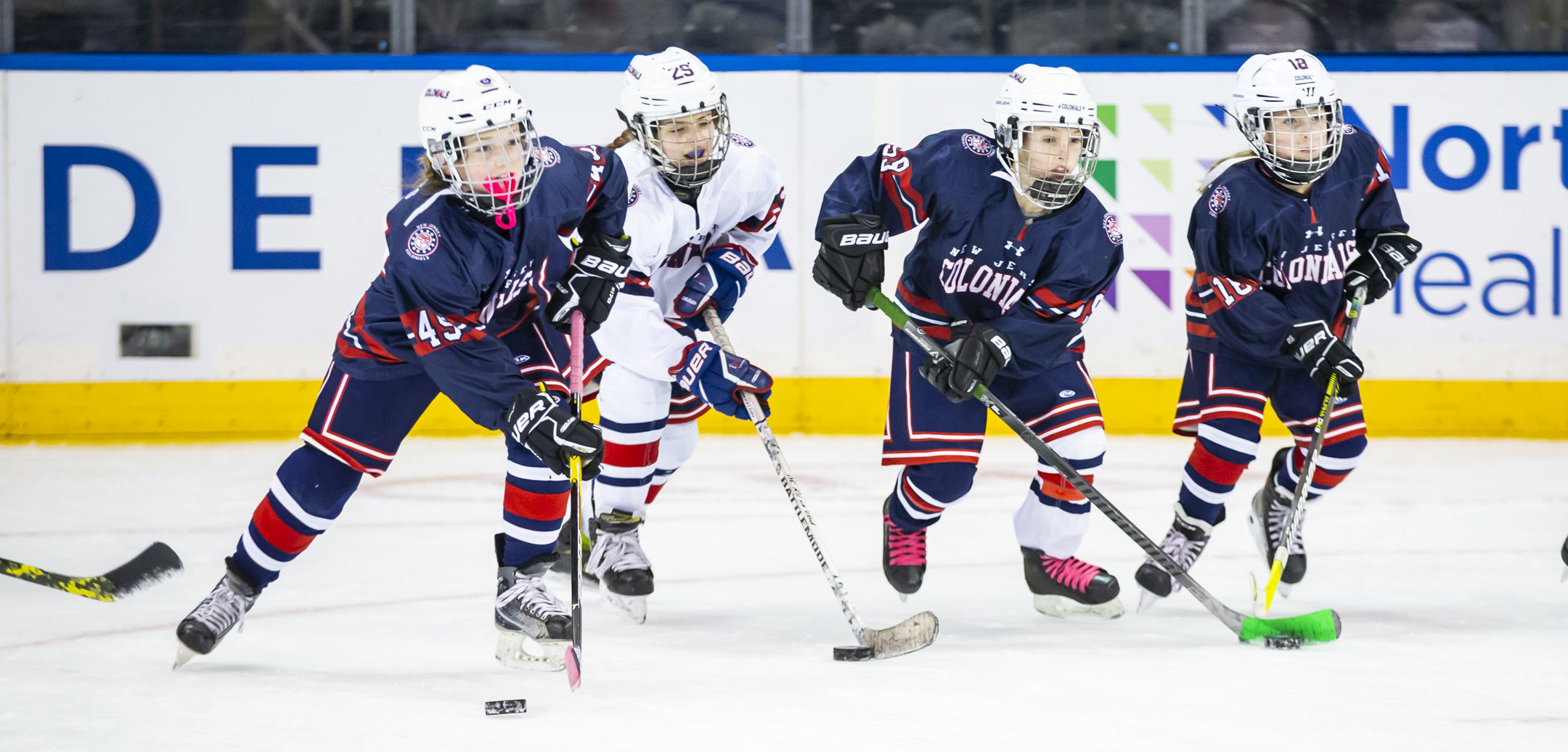 January 9, 2020: The New York Rangers host a Jr Rangers clinic for girls on the ice at Madison Square Garden with Amanda Kessel.
